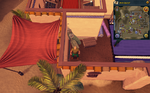 Simple clue Al Kharid house with silk