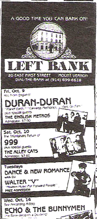 Mount Vernom NY (USA), Left Bank wikipedia duran duran