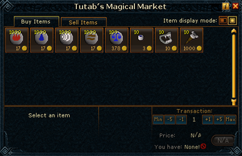 Tutab's Magical Market stock