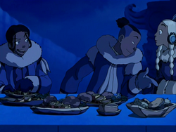 Katara teasing Sokka