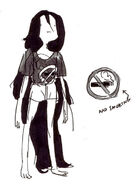 Concept of Marceline&#39;s no-smoking outfit
