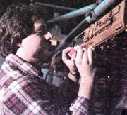 Chris Ross working on the Drydock studio model