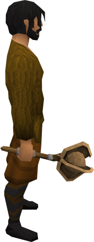 Bronze mace equipped