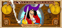 Captain Hook&#39;s One Villain dollar bill