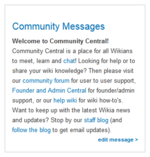 Community messages