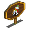 Holiday Tinsel Unicorn Foal Mastery Sign-icon