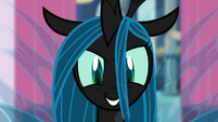 Chrysalis watching Canterlot in chaos S02E26