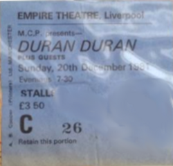 Liverpool empire theatre wikipedia duran duran 20 December 1981
