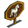 White Arabian Horse Mastery Sign-icon