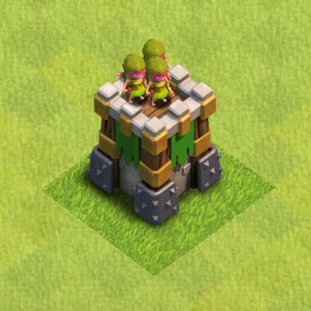 1-2. Archer Tower | =☆ Clash of Clans 공략 & Tip