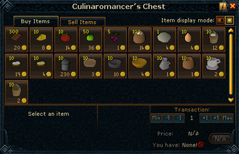 Culinaromancer&#39;s Chest stock (Food)