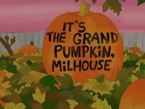 It&#39;s the Grand Pumpkin, Milhouse