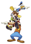 Sora, Donald and Goofy (Art) KHI