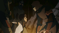 Amon threatening Korra