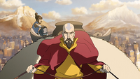 Tenzin advising Korra