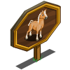 Hackney Palomino Horse Mastery Sign-icon