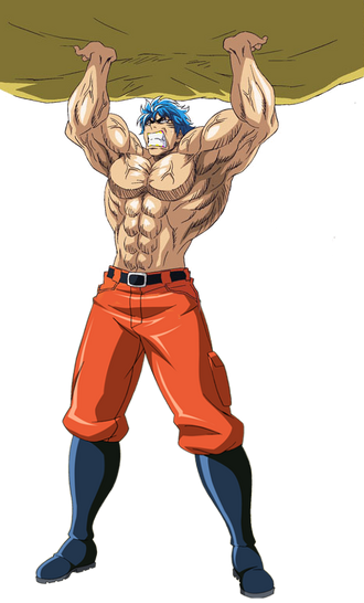 Toriko holding rock