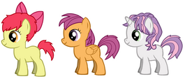 Cutie Mark Crusaders with Gender Switch Hair