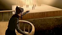 Korra exposing Amon