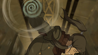 Korra discovering her airbending