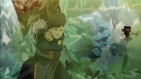 Korra freezes smoke grenades