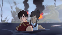Korra saved Iroh