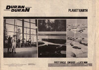 Planet earth wikipedia single duran duran advert