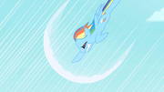 Rainbow Dash&#39;s first attempt at sonic rainboom S1E16