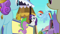 Rarity awkward smile S3E2