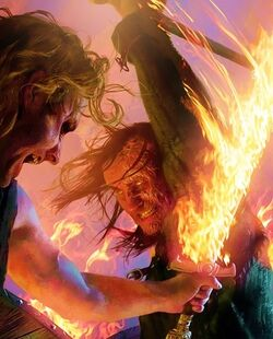 Sandor Clegane versus Beric Dondarrion by Michael Komarck, Fantasy Flight Games