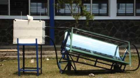 Trough parabolic reflector for domestic water heater under indonesian climate.wmv