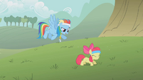 Apple Bloom doing pushups S1E12