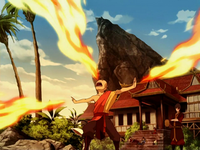Aang firebending