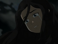 Katara cries