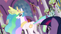 Celestia giving Twilight&#39;s punishment for failure S3E2