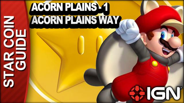 New Super Mario Bros. U 3 Star Coin Walkthrough - Acorn Plains 1 Acorn Plains Way
