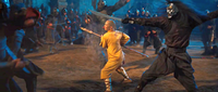 Film - Aang fighting alongside Blue Spirit