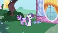 Twilight and Rarity secretly meet up S1E25