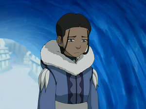Katara at the healing huts
