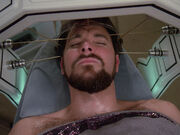 Riker in sickbay, 2365