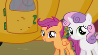 Scootaloo &#39;You&#39;ll be able to ride on it with us&#39; S3E4