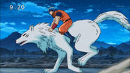 Toriko riding Terry