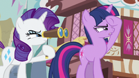 Rarity & Twilight looking S3E4