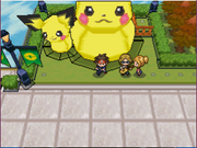 Estatua de Pikachu y Pichu