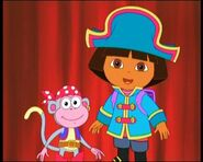 Dora and Boots as pirates