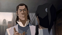 Tarrlok mocking Korra
