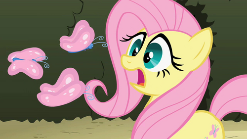Image - Fluttershy scared of butterflies S2E01.png - My ...