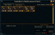 Nulodion&#39;s Multicannon Parts stock