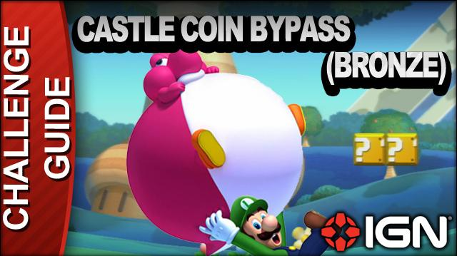 New Super Mario Bros. U Challenge Walkthrough - Castle Coin Bypass