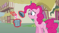 Cursor putting Pinkie&#39;s mouth into a trash bin S3E05